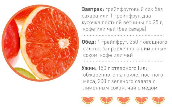 однодневная диета на грейпфруте